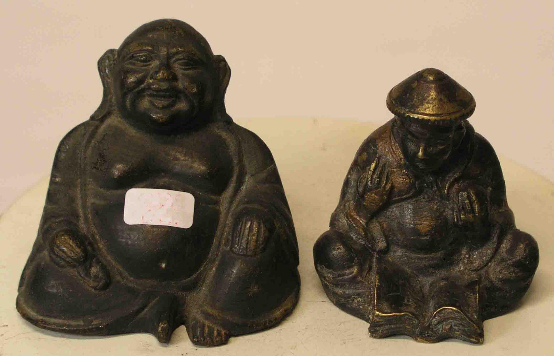 Glücksbuddha und Gelehrter. Zwei