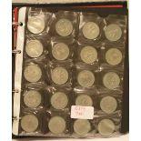Album mit Münzen BRD. 2 Mark, 5 Mark,