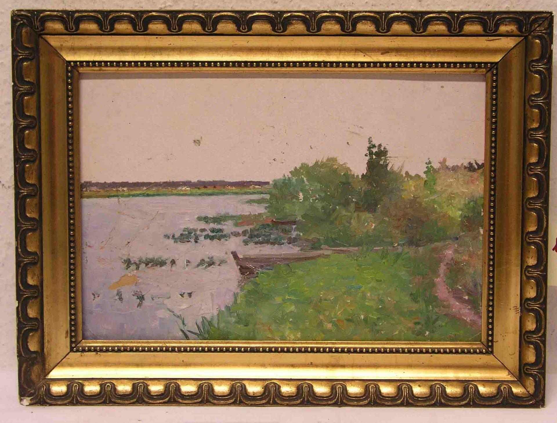 """Russischer Maler: """"Seelandschaft""""."""