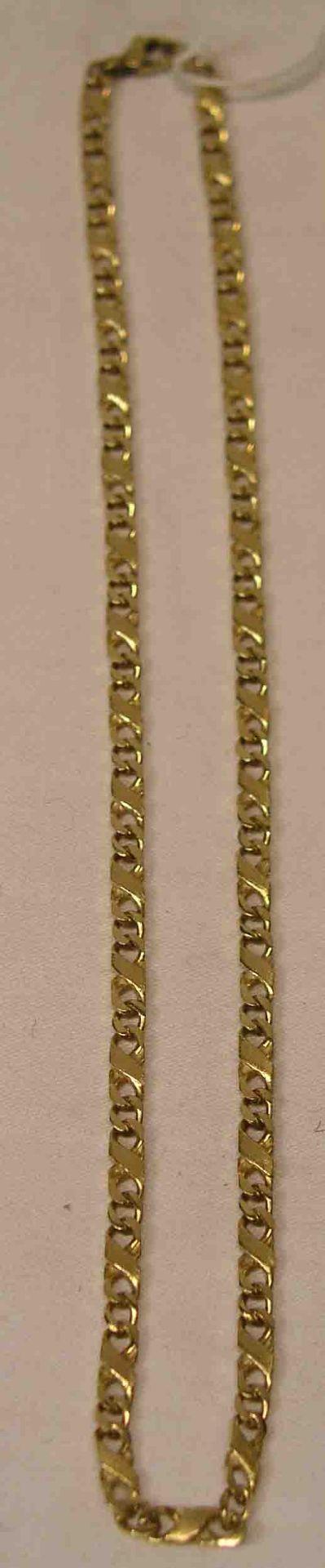 Halskette. 14 Kt. Gelbgold. Länge:
