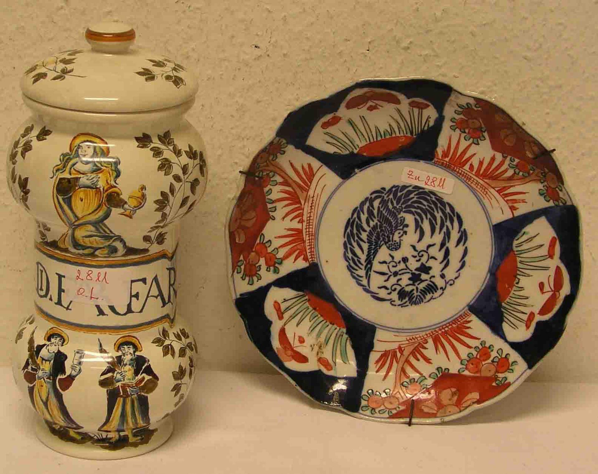 Apotheker Gefäß, Ulmer Keramik, Höhe: