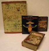 Posten von vier Büchern. Dabei: Atlas