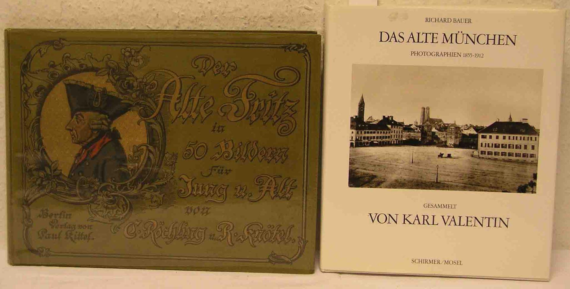 Posten von zwei Büchern. Dabei: