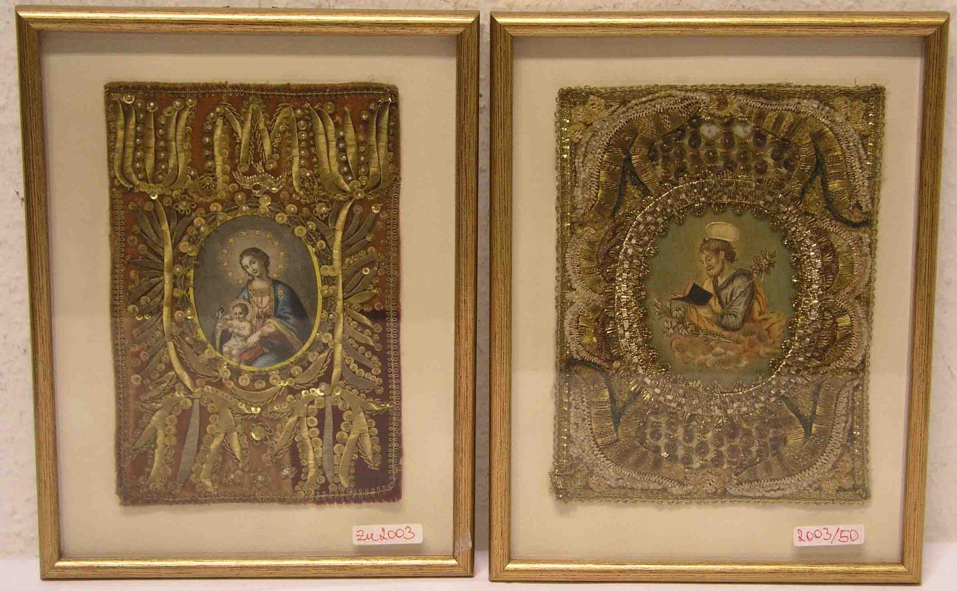 """Zwei Klosterarbeiten: """"Madonna mit"""