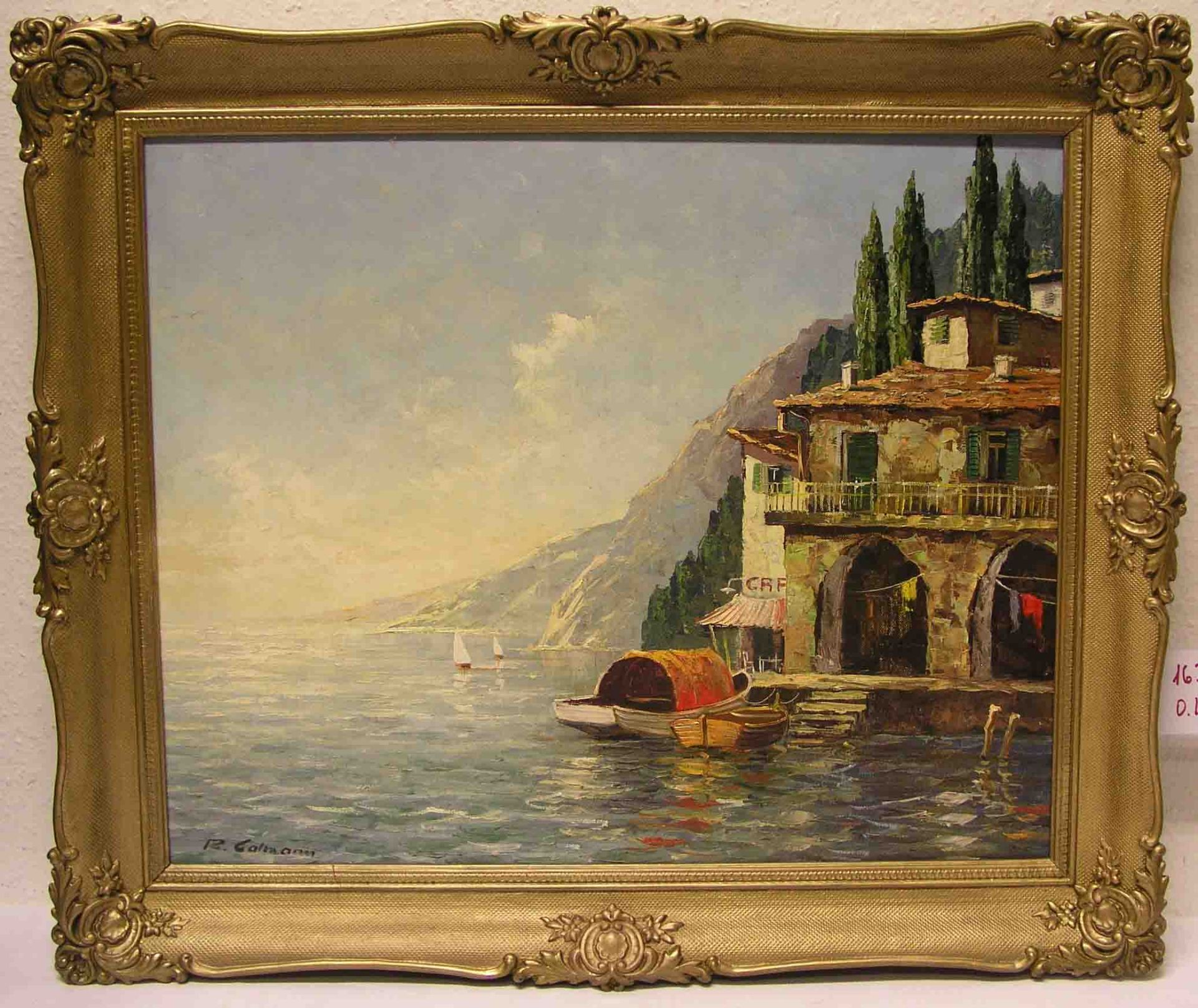 """Callman, R.: """"Am Gardasee"""". Öl/Lwd.,"""