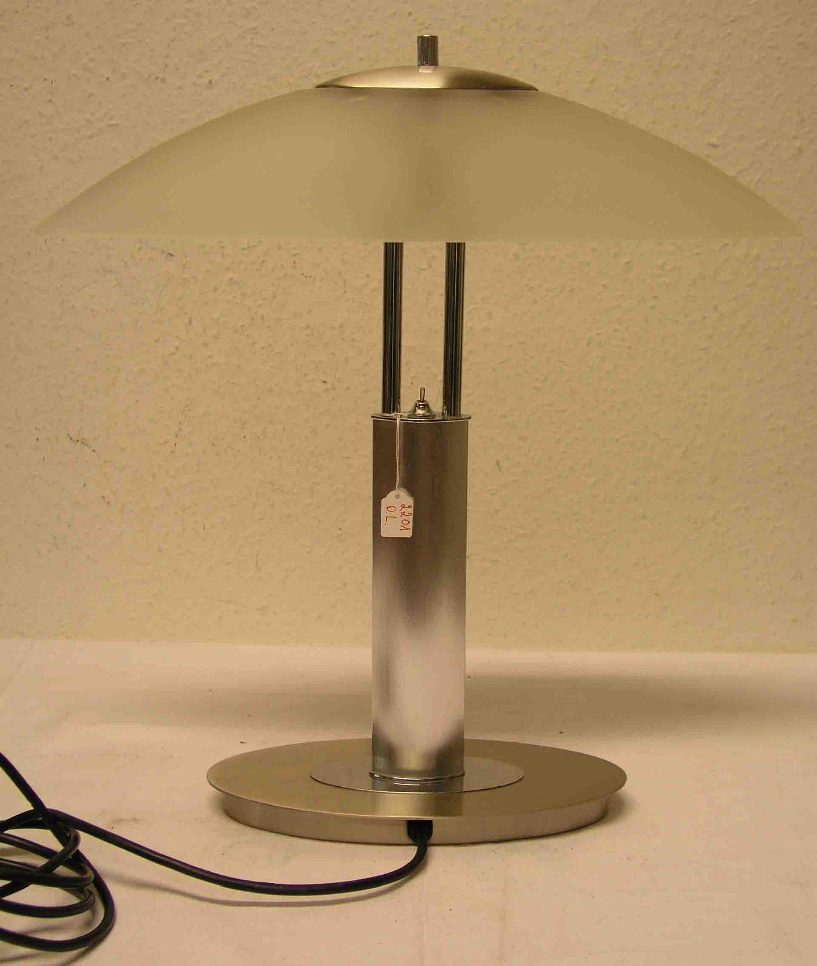 Designer Tischlampe. Metallgestell,