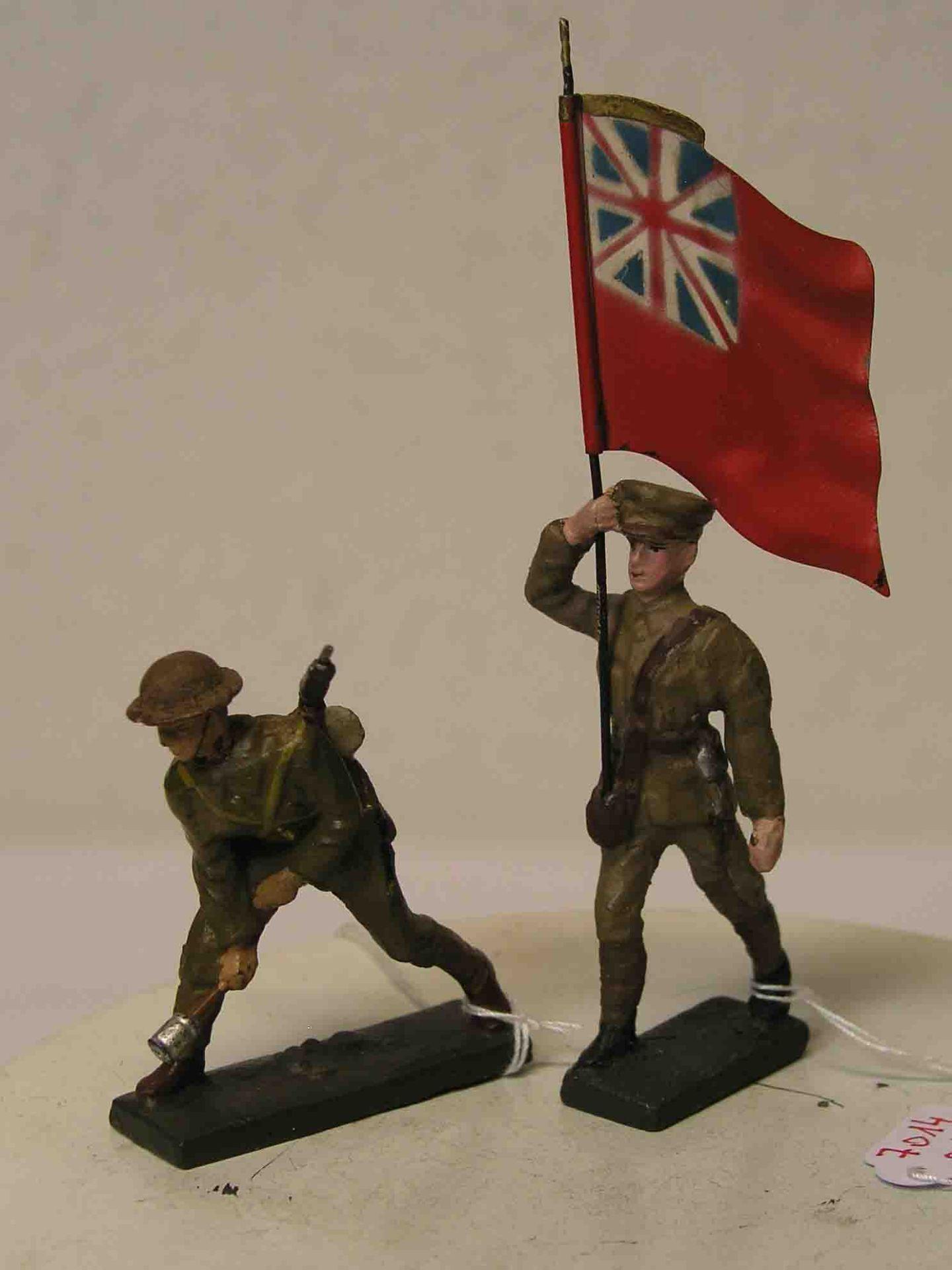Zwei englische Soldaten, Lineol.