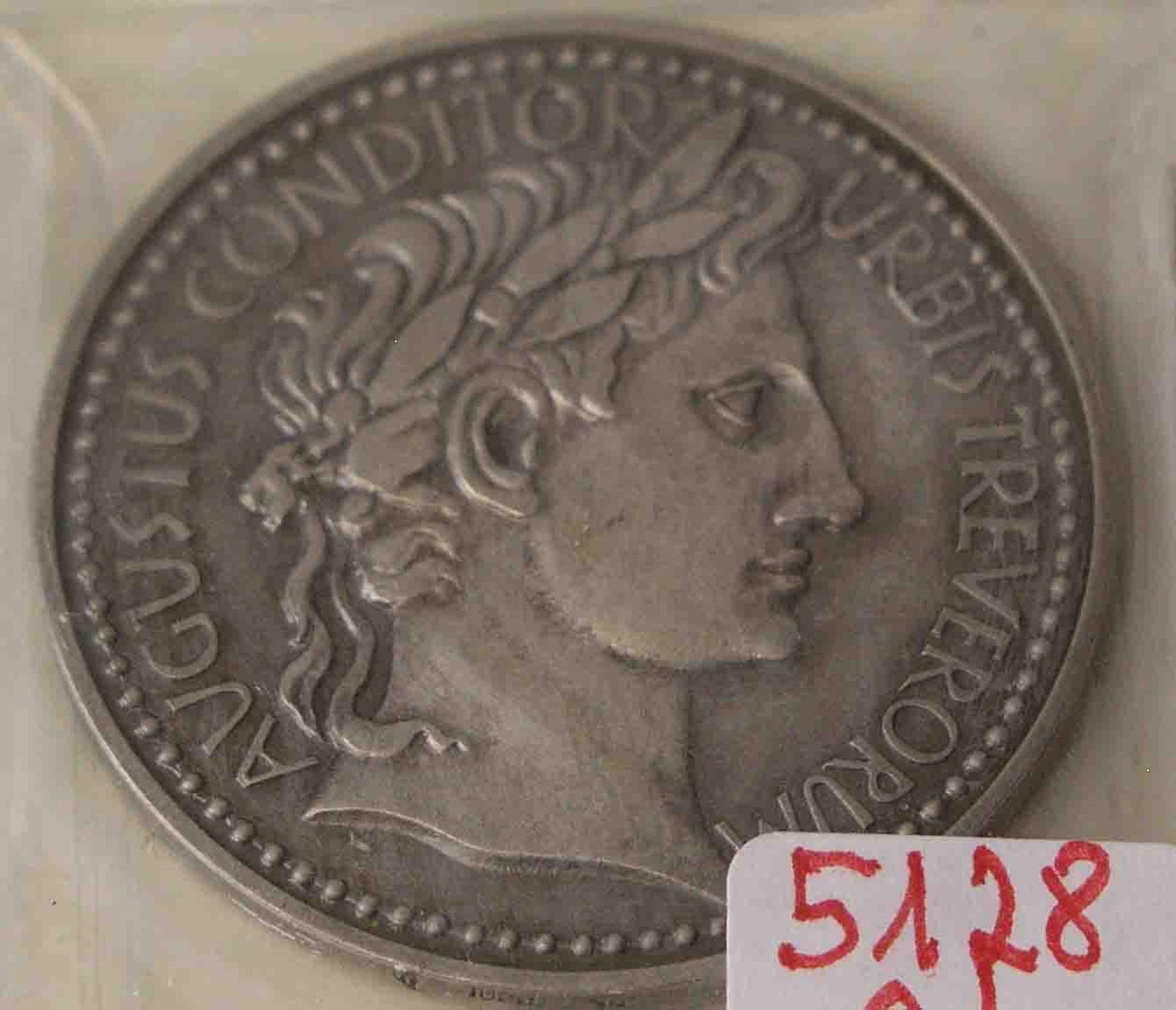 "Medaille, Feinsilber ""Augustus"