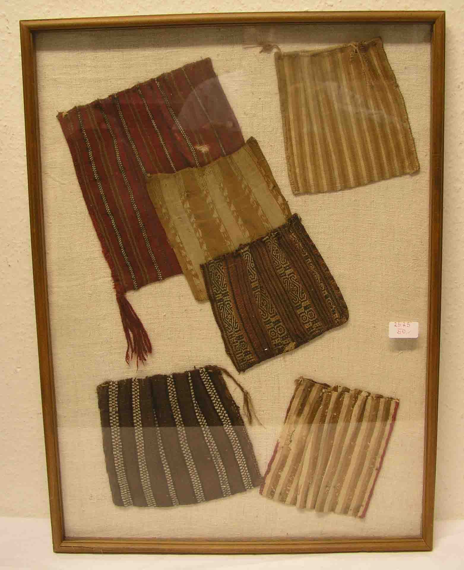 Inka - Textilarbeiten. Sechs