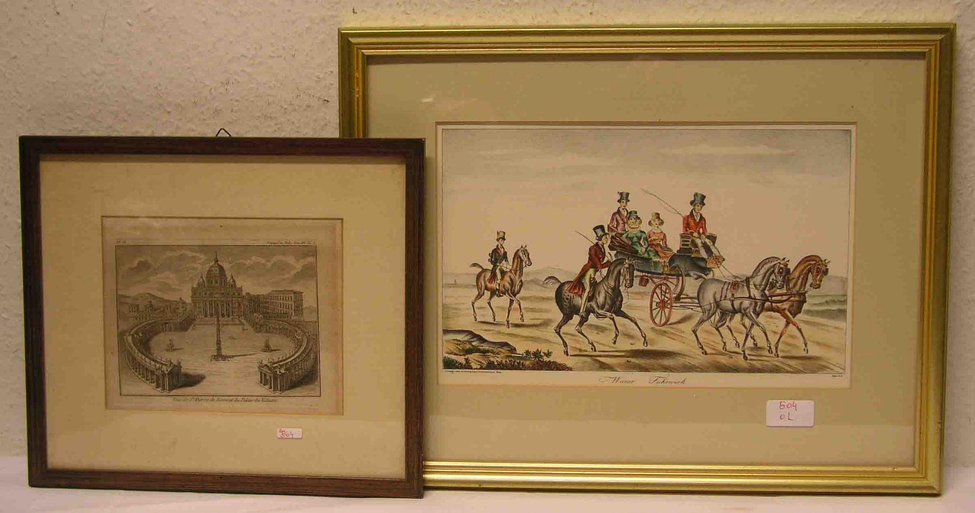 Wiener Fuhrwerk. Farblithografie, 20 x