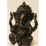 Ganesha. Messing-Statue. Indische