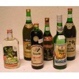 Alkoholika. Sechs verschiedene