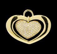 1.56 ctw Diamond Pendant - 18KT Yellow Gold