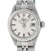 Rolex Ladies Stainless Steel Silver Index 26MM Oyster Perpetaul Datejust