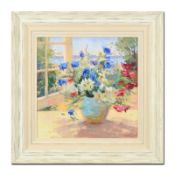 """S. Burkett Kaiser, """"Daisies & Pansies"""" Framed Limited Edition on Canvas, AP Numb"""