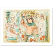 """""""Aida"""" Limited Edition Lithograph (38"""" x 27"""") by Edna Hibel (1917-2014), Numbere"""