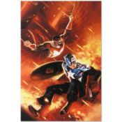 """Marvel Comics """"Captain America #607"""" Numbered Limited Edition Giclee on Canvas b"""