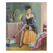 """Taras Sidan, """"Tatiana"""" Hand Signed Limited Edition Giclee with Letter of Authent"""