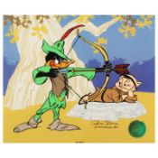 """""""Robin Hood: Bow & Error"""" Limited Edition Animation Cel with Hand Painted Color."""