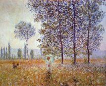 Claude Monet - Poplars in the Sunlight