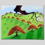"""""""Fall Fields"""" Limited Edition Giclee on Canvas by Larissa Holt, Numbered and Sig"""