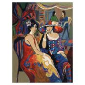 """Isaac Maimon, """"Friendship"""" Limited Edition Serigraph, Numbered and Hand Signed w"""