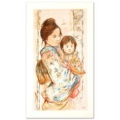 """Children's Day"" Limited Edition Serigraph by Edna Hibel (1917-2014), Numbered a"