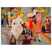 """Isaac Maimon, """"Elite Boulevard"""" Limited Edition Serigraph, Numbered and Hand Sig"""