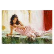 "Vidan, ""In Repose"" Limited Edition on Canvas, Numbered and Hand Signed with Cert"