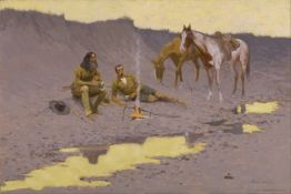 Frederic Sackrider Remington - A New Year on the Cimarron