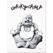 "Padhia Avocado, ""Gangsta Buddha"" Limited Edition Silkscreen, Numbered and Hand S"