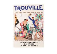 Vintage Trouville Limited Edition Lithograph Advertising Travel Poster