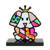 """Romero Britto""""Royalty II"""" Hand Signed Limited Edition Sculpture; Authenticated."""
