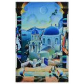 """Ferjo, """"Cruising to Santorini"""" Limited Edition on Gallery Wrapped Canvas, Number"""