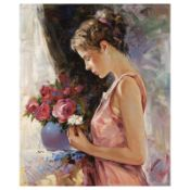 """Igor Semeko, """"Blessings"""" Hand Signed Limited Edition Giclee on Canvas with Lette"""