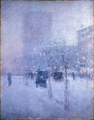 Childe Hassam - Late Afternoon, New York, Winter