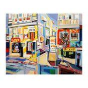 "Natalie Rozenbaum, ""Corner At Bugrashov"" Limited Edition on Canvas, Numbered and"
