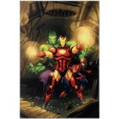 """Marvel Comics """"Secret Invasion #7"""" Numbered Limited Edition Giclee on Canvas by"""