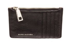 Marc Jacobs Black & Brown Perry Zip Wallet