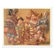 "Virginia Dan (1922-2014), ""Spinning Wheel"" Limited Edition Lithograph, Numbered"