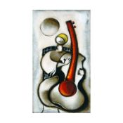 "David Schluss, ""Guitar Melody"" Limited Edition Serigraph, Numbered and Hand Sign"
