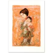 """Morning Stroll"" Limited Edition Lithograph by Edna Hibel (1917-2014), Numbered"
