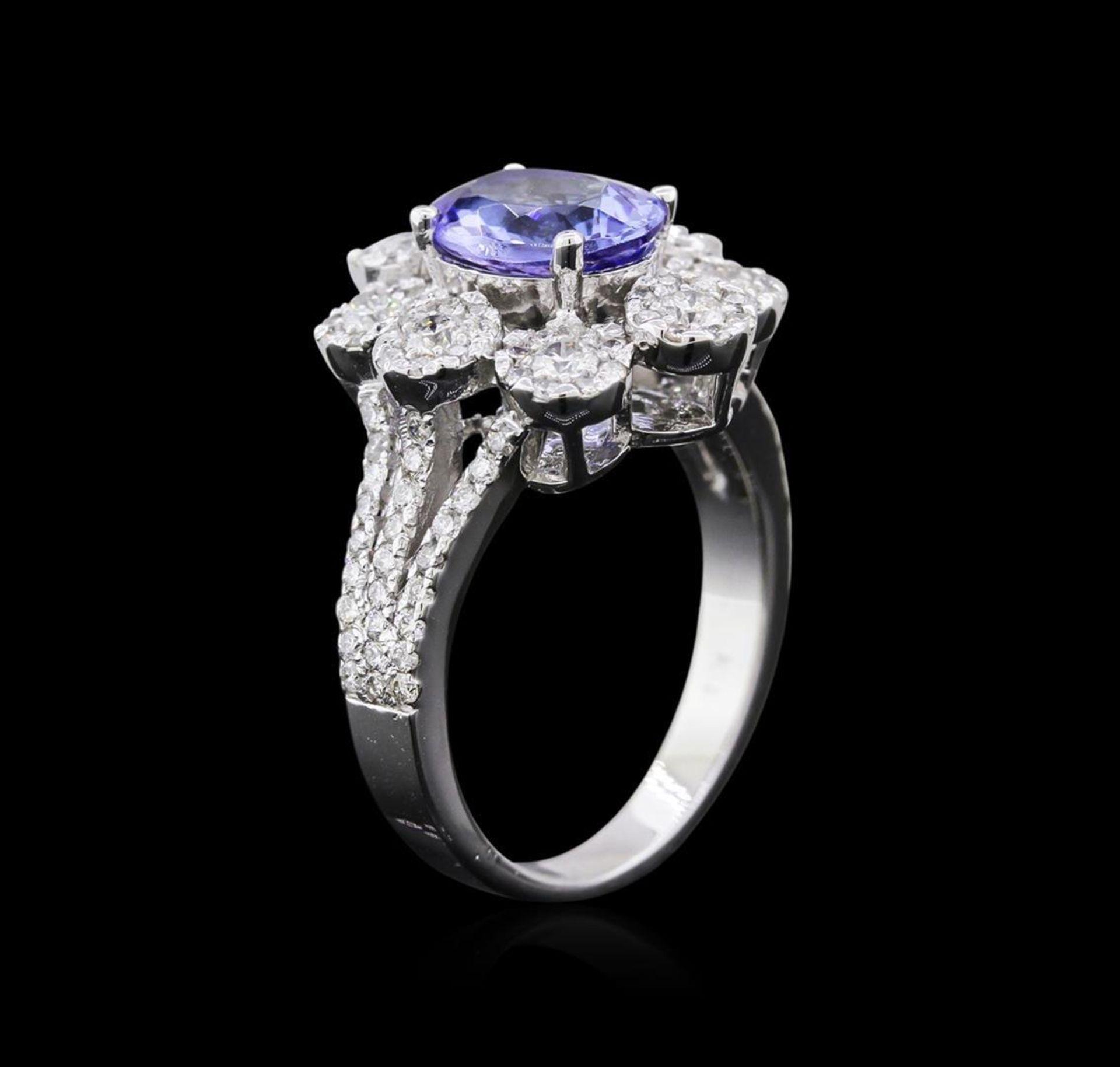 14KT White Gold 2.00 ctw Tanzanite and Diamond Ring - Image 3 of 4