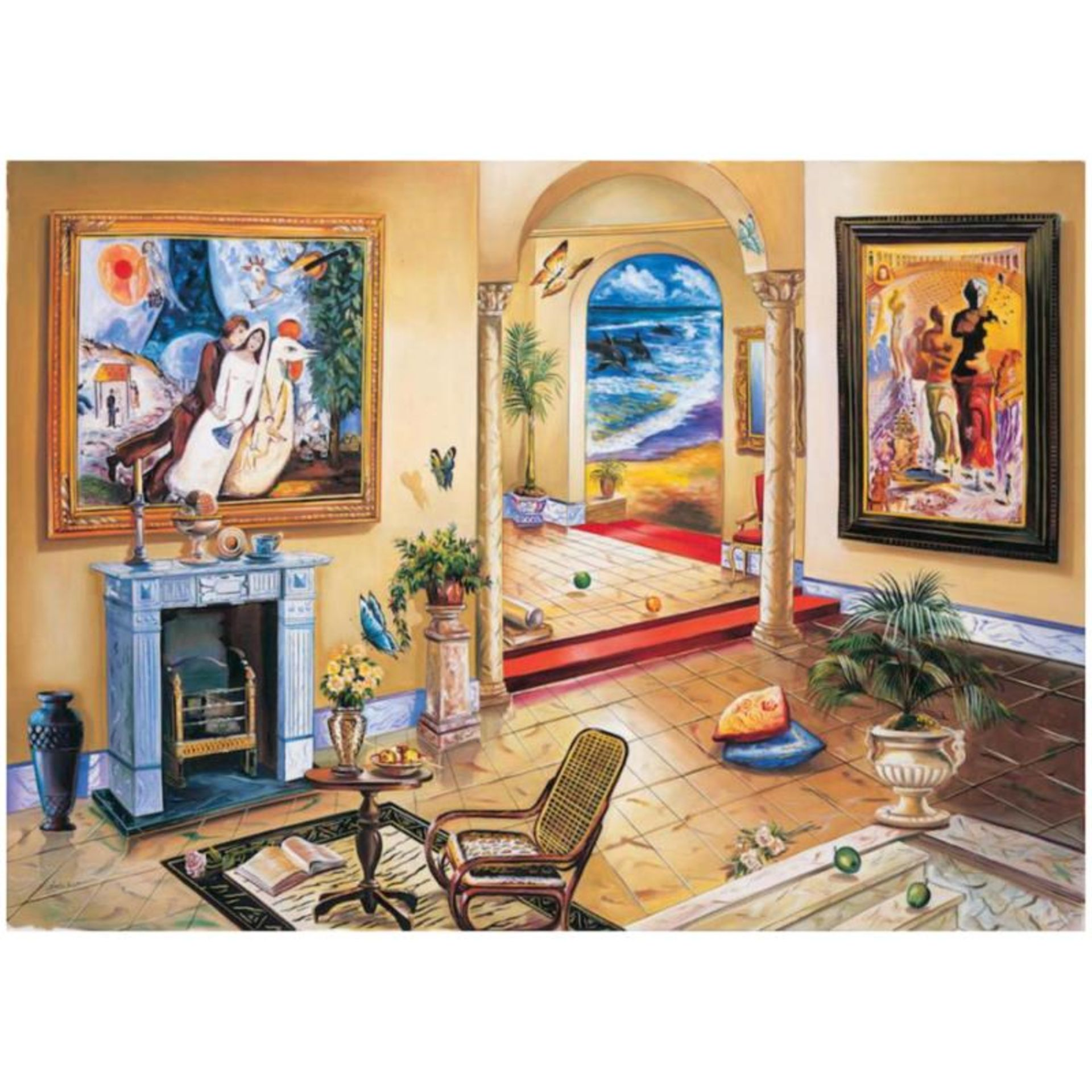 """Alexander Astahov, """"Interior with Chagall"""" Hand Signed Limited Edition Giclee on"""