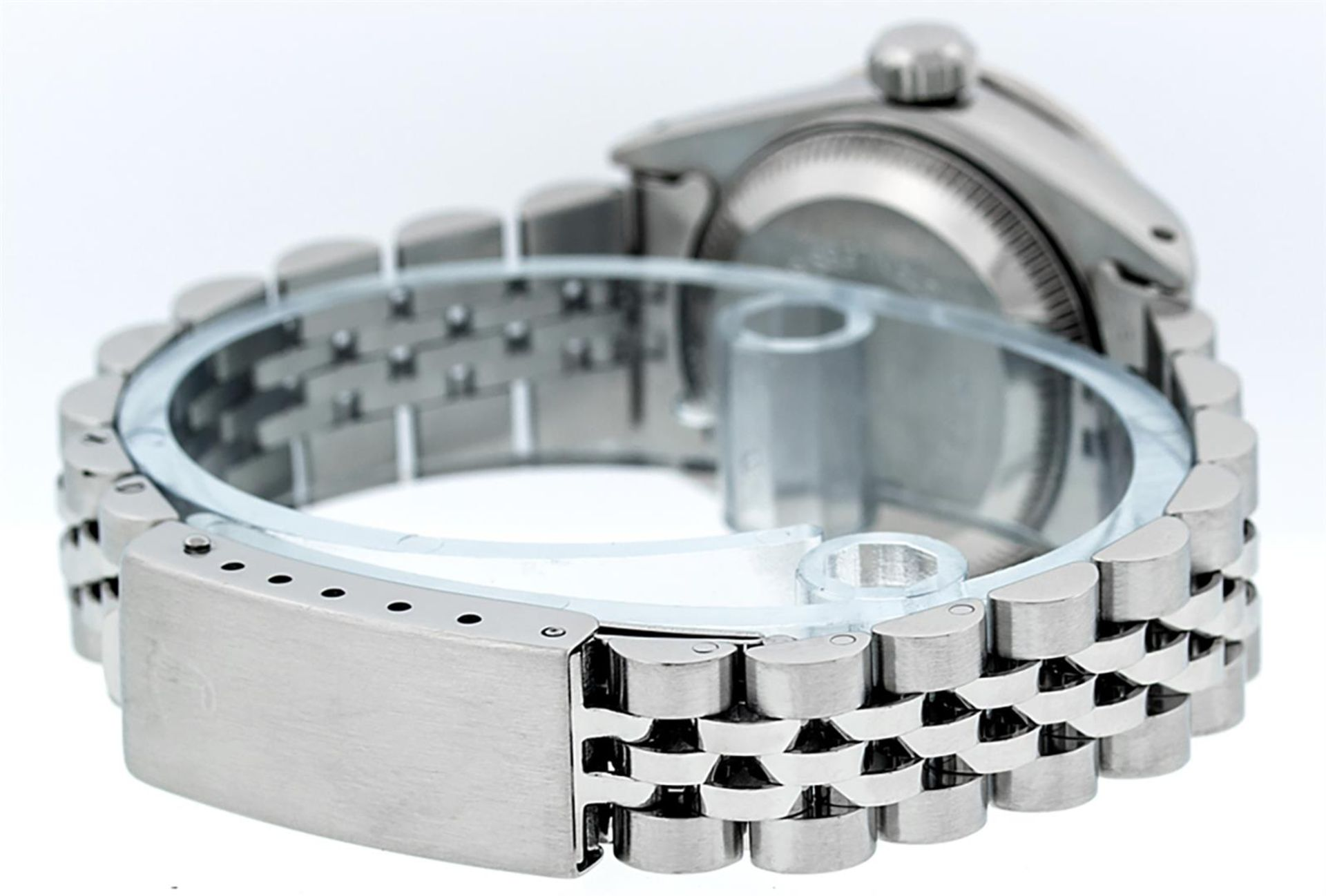 Rolex Ladies Stainless Steel 26MM Black String Diamond Lugs Datejust Wristwatch - Image 5 of 9