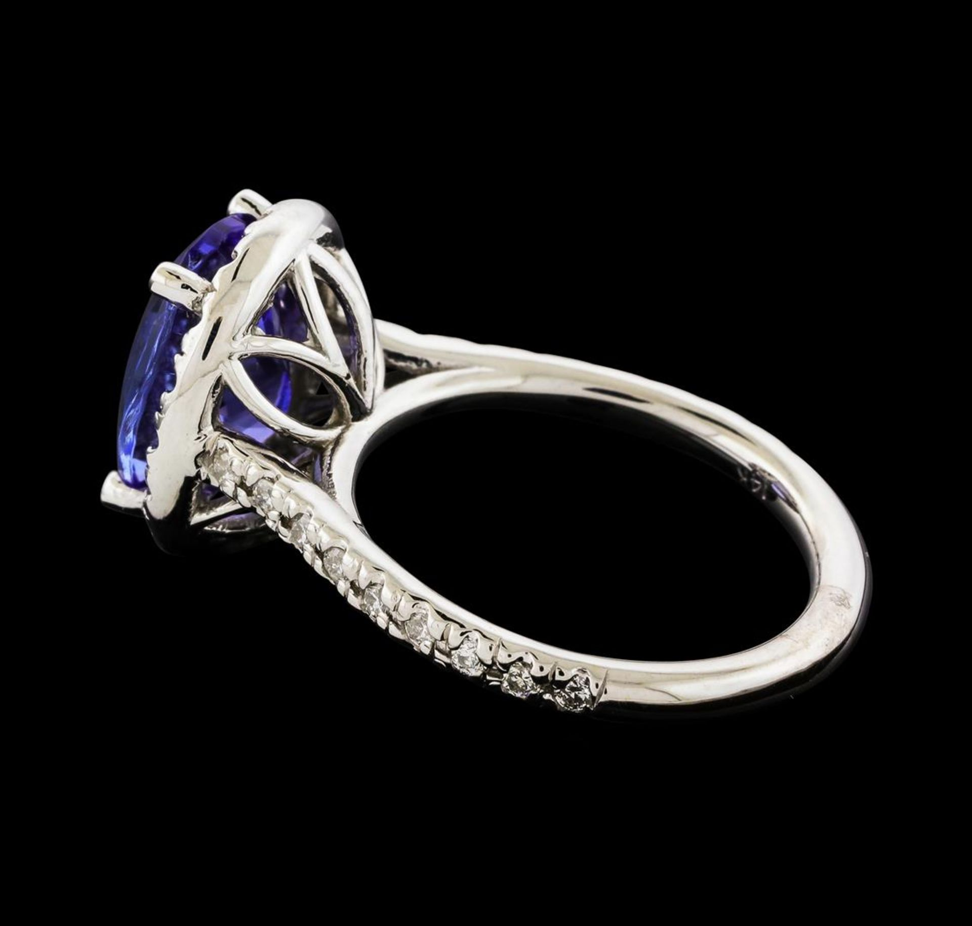 3.25 ctw Tanzanite and Diamond Ring - 14KT White Gold - Image 3 of 4
