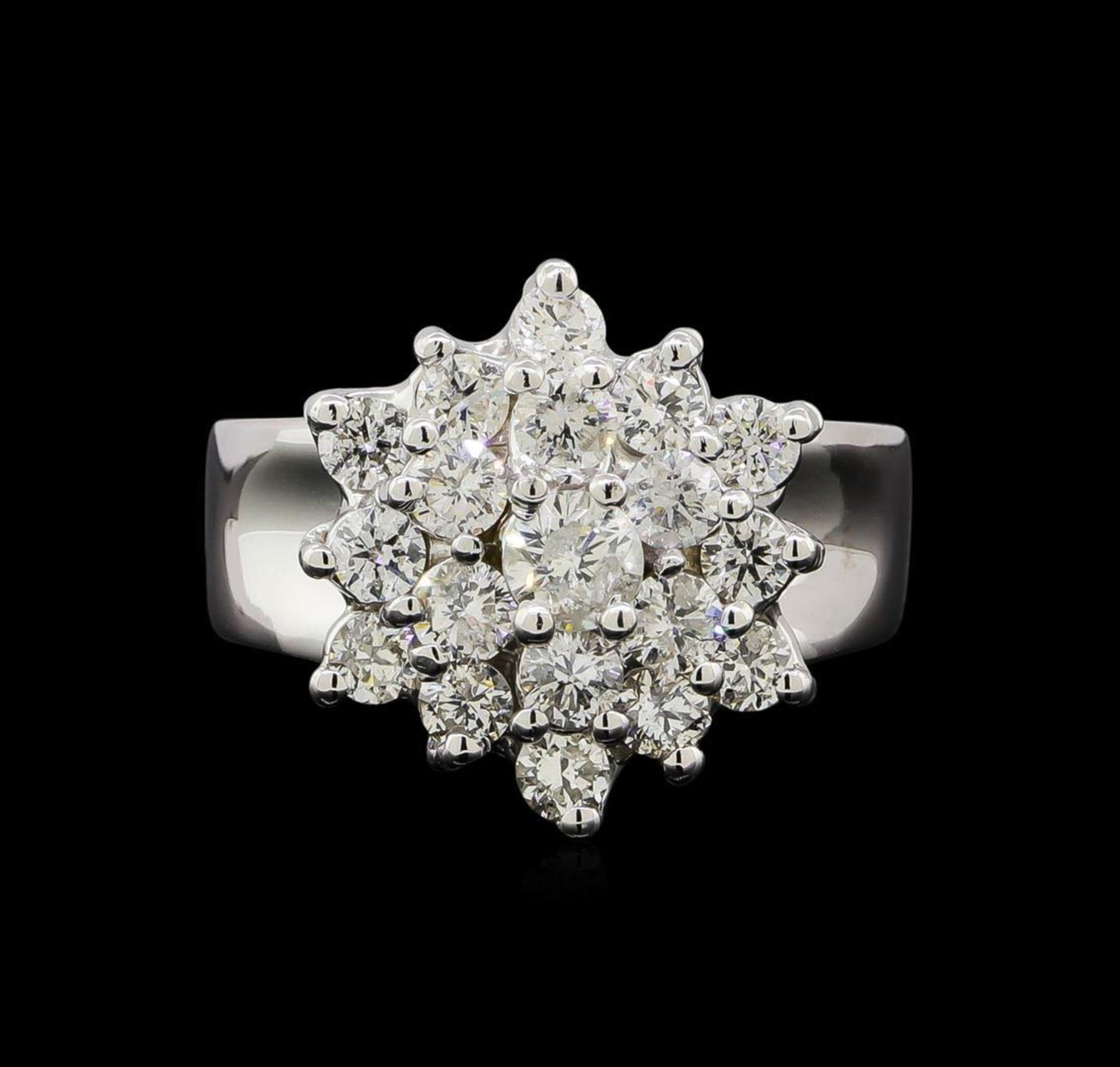 14KT White Gold 1.55 ctw Diamond Ring - Image 2 of 5
