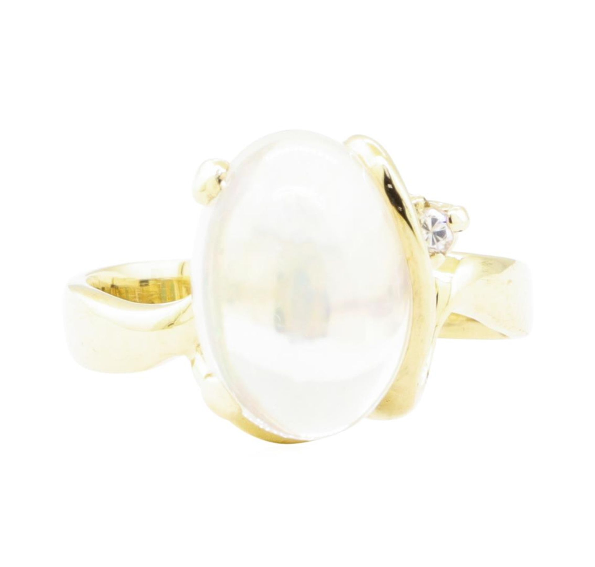 6.88 ctw Opal and Diamond Ring - 14KT Yellow Gold - Image 2 of 4