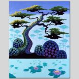 """Lotus by Moonlight"" Limited Edition Giclee on Canvas by Larissa Holt, Numbered"
