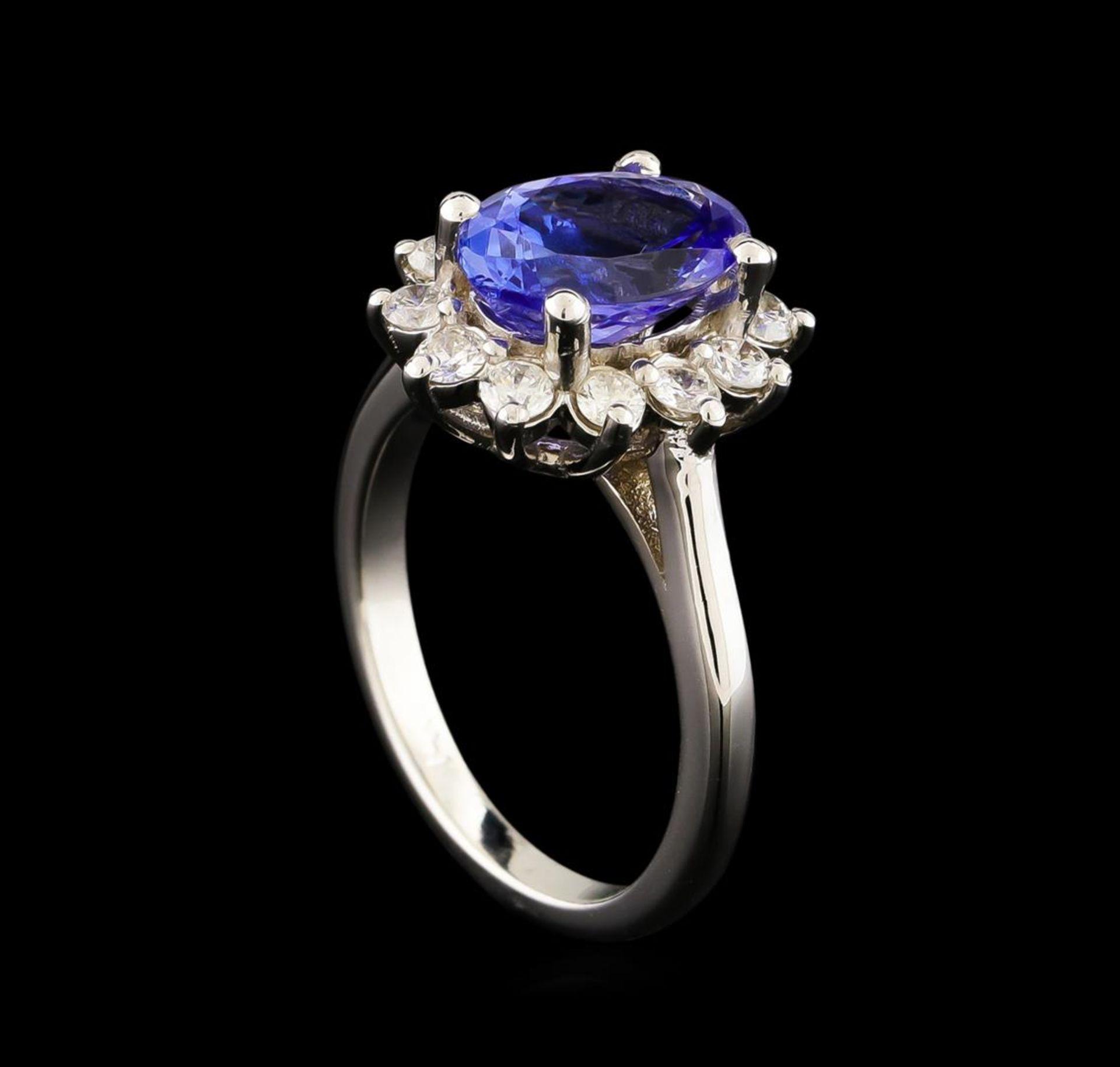 2.61 ctw Tanzanite and Diamond Ring - 14KT White Gold - Image 4 of 5